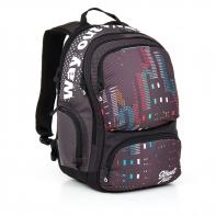 Dwukomorowy plecak młodzieżowy Topgal HIT 865