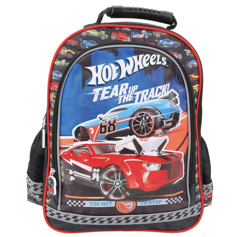 7d1e614698be4 Plecak szkolny dla chłopca Hot Wheels czarny