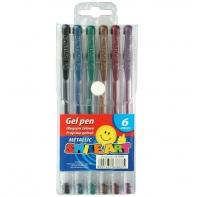 Zestaw 6 długopisów żelowych metalicznych TITANUM fun&joy