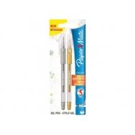 2 długopisy żelowe PM300 złoty i srebrny Paper Mate