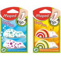 2 gumki ergonomiczne kolorowe Ergo Fun Maped