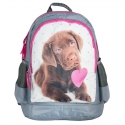 Plecak szkolny dla dziewczynki Paso pies z serduszkiem