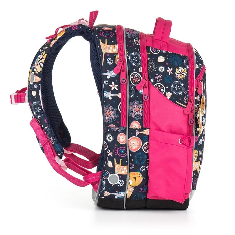 7ed205386eb87 Plecak szkolny trzykomorowy dla dziewczynki Topgal CHI 876