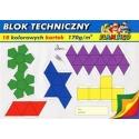 Blok techniczny kolorowy 10 kartek A4