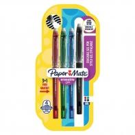 Zestaw 4 wymazywalnych długopisów żelowych Paper Mate
