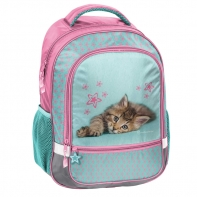 Lekki plecak szkolny z kotkiem, Paso