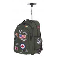 Plecak szkolny na kółkach CoolPack Junior 33 L, Badges Green A417