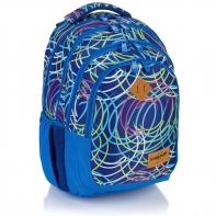 Plecak szkolny Astra Head HD-103, niebieski w maziaje