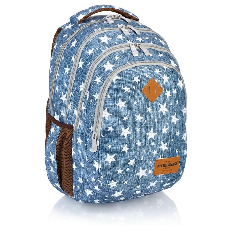 cf4dd585ecf3a Plecak szkolny Astra Head HD-109, niebieski w gwiazdki