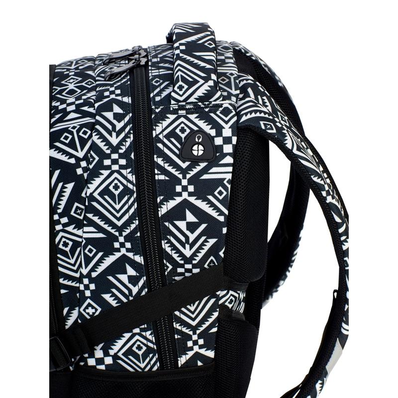 b88555cbae462 Plecak szkolny Astra Head HD-74, czarny w białe wzory