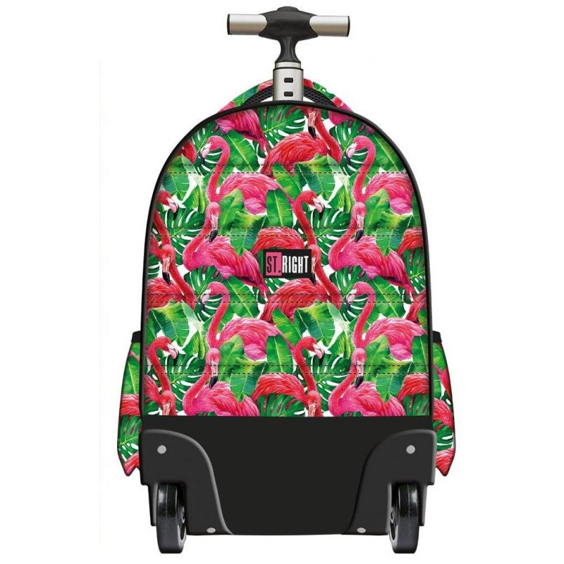 c2e3f2ef1a9bc Trzykomorowy plecak na kółkach St.Right 34 L, Flamingo Pink&Green TB1
