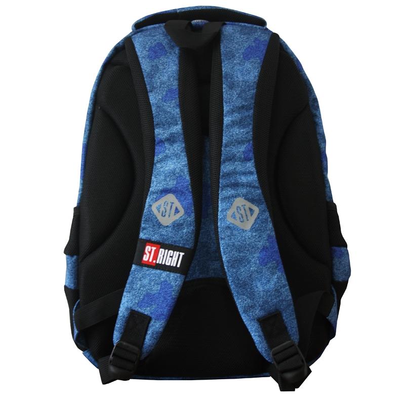 fb256e4ad02ac Dwukomorowy plecak szkolny St.Right 24 L