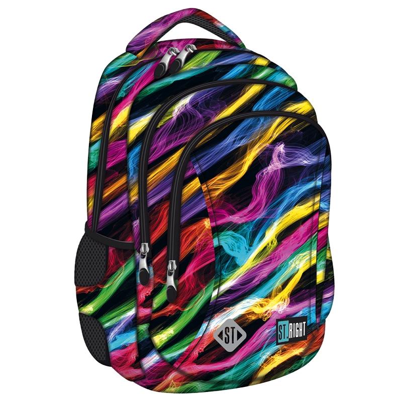 13cf0e46c7e78 Dwukomorowy plecak szkolny St.Right 19 L