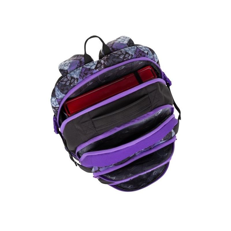 5a53dc49eeb18 Lekki plecak szkolny Bagmaster z fioletowymi suwakami