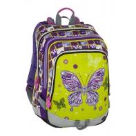 Plecak szkolny Bagmaster trzykomorowy, motyl