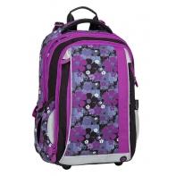 Plecak szkolny Bagmaster kwiatuszki - trzykomorowy