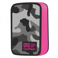 Podwójny piórnik z wyposażeniem, Coolpack Jumper 2, Como Pink Neon