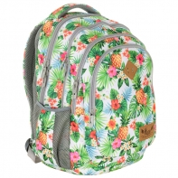 Plecak szkolny Astra Hash HS-07, kwiaty i ananasy