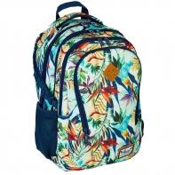 Plecak szkolny Astra Hash HS-05, kwiaty tropikalne