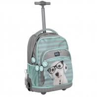 Plecak szkolny na kółkach Paso, piesek dalmatyńczyk