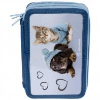 Piórnik trzykomorowy z pieskiem i kotkiem, Paso