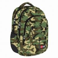 Dwukomorowy plecak szkolny St.Right 24 L, Navy Moro BP32