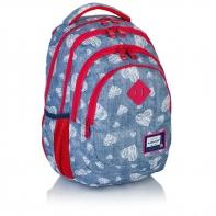 bd0de23544697 Plecak szkolny mini Astra Head HD-196, niebieski w serduszka