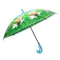 Dziecięca duża automatyczna parasolka z gwizdkiem, królik pod liściem