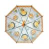 Przezroczysta głęboka parasolka dziecięca - pszczółka