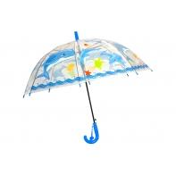 Przezroczysta głęboka parasolka dziecięca - delfiny