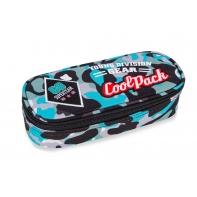 Usztywniany piórnik szkolny Coolpack Campus Camo Blue Badges A62113