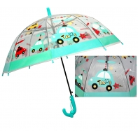Dziecięca głęboka parasolka z gwizdkiem, samochodziki