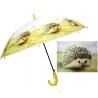 Dziecięca duża automatyczna parasolka z gwizdkiem, jeż