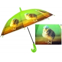 Dziecięca duża automatyczna parasolka z gwizdkiem, kurczaczek