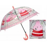Przezroczysta głęboka parasolka dziecięca - świnka
