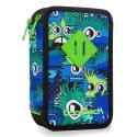 Potrójny piórnik z wyposażeniem, Coolpack Jumper 3 WIGGLY EYES BLUE