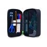 Potrójny piórnik z wyposażeniem, Coolpack Jumper 3 WIGGLY EYES BLUE, B67034