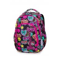 Lekki plecak szkolny CoolPack Strike L 19L, Emoticons A17205