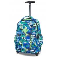 Plecak szkolny na kółkach CoolPack Junior 24 L, Wiggly Eyes Blue B28034