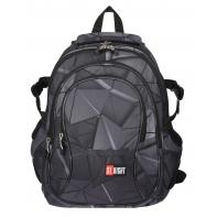 Trzykomorowy plecak szkolny St.Right 29 L, 3D Shapes BP1