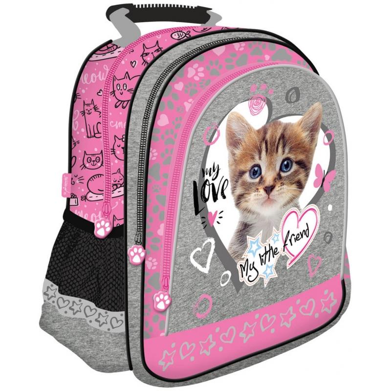 88d8ff774 Plecak szkolny dla dziewczynki My Little Friend, Kot różowy