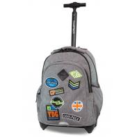 Plecak szkolny na kółkach CoolPack Junior 24 L, Badges Grey
