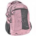 Lekki plecak szkolny Paso, szaro różowy Barbie