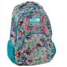 Lekki plecak szkolny Paso, kwiaty tropikalne