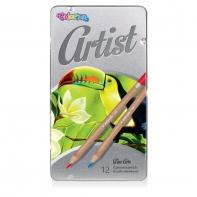 Kredki ołówkowe w metalowym opakowaniu 12 szt. ARTIST Colorino