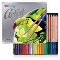 Kredki ołówkowe w metalowym opakowaniu 24 szt. ARTIST Colorino