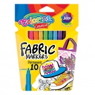 Markery do tkanin 10 kolorów Fabric Colorino
