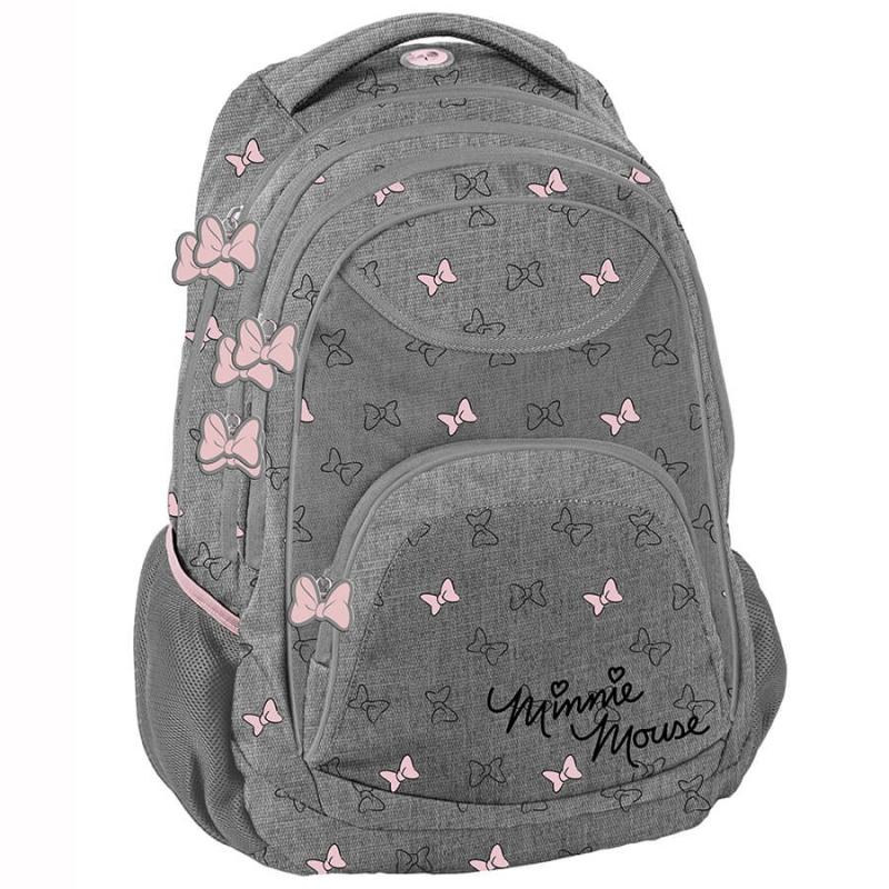 260958a85a9 Plecak szkolny dla dziewczynki Paso, szary Myszka Minnie