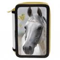 Piórnik trzykomorowy z białym koniem, Paso