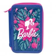 Piórnik trzykomorowy w kwiaty Paso, Barbie